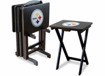 Imperial International Pittsburgh Steelers 4 TV Trays With Stand