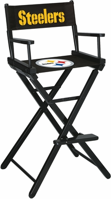 Imperial International Pittsburgh Steelers Bar Height Directors Chair
