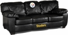 Imperial International Pittsburgh Steelers Black Leather Classic Sofa