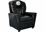 Imperial International Pittsburgh Steelers Faux Leather Kids Recliner