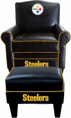 Imperial International Pittsburgh Steelers Game Time Chair & Ottoman