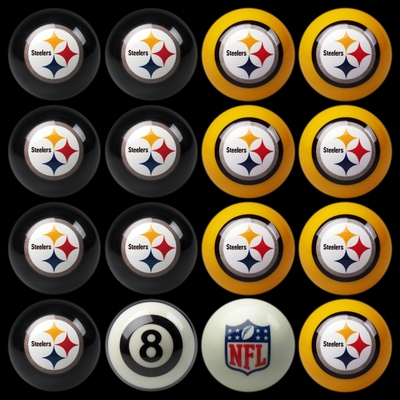 Imperial International Pittsburgh Steelers Home Versus Away Billiard Ball Set