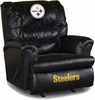 Imperial International Pittsburgh Steelers Leather Big Daddy Recliner