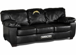 Imperial International San Diego Chargers Classic Black Leather Sofa