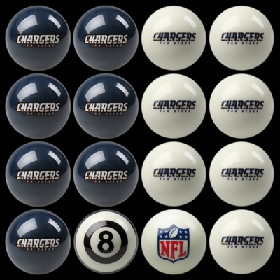Imperial International San Diego Chargers Home Versus Away Billiard Ball Set
