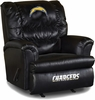 Imperial International San Diego Chargers Leather Big Daddy Recliner