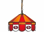 "Imperial International San Francisco 49ers 16"" Glass Lamp"