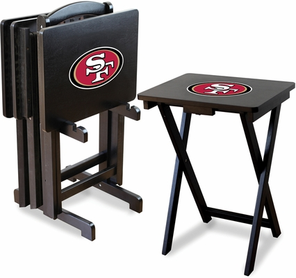 Imperial International San Francisco 49ers 4 TV Trays With Stand