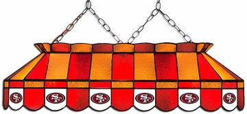 "Imperial International San Francisco 49ers 40"" Glass Lamp"