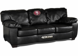 Imperial International San Francisco 49ers Black Leather Classic Sofa