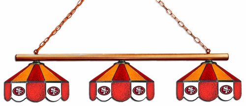 Imperial International San Francisco 49ers Glass 3 Shade Lamp