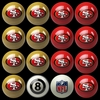 Imperial International San Francisco 49ers Home Versus Away Billiard Ball Set