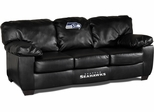 Imperial International Seattle Seahawks Black Leather Classic Sofa