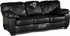 Imperial International St Louis Rams Black Leather Classic Sofa