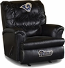 Imperial International St Louis Rams Leather Big Daddy Recliner