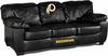Imperial International Washington Redskins Black Leather Classic Sofa