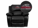 Indianapolis Greyhounds Embroidered Black Leather Rocker Recliner  - MEN-DA3439-91-BK-41083-EMB-GG