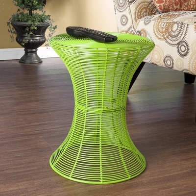 Indoor/Outdoor Round Metal Accent Table - Green - Holly and Martin