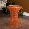 Indoor/Outdoor Round Metal Accent Table - Orange - Holly and Martin