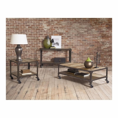Industrial Age Castered Occasional Table Set - Largo - LARGO-ST-T115-SET