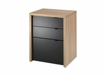 Infini-T 3 Drawer Unit in Biscotti - Nexera Furniture
