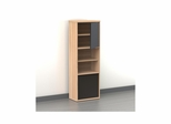 Infini-T Biscotti 2 Door 6 Shelf Bookcase - Nexera Furniture