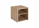 Infini-T Open Media Storage Unit in Biscotti - Nexera Furniture