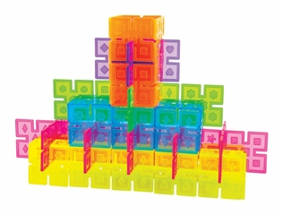 Interlox Building Set - 96 Pcs in Multi Color - Guidecraft - G16835