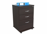 Inval 3 Drawer File Cabinet with Locking System