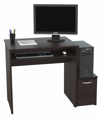 Inval America Computer Work Center Espresso Wenge