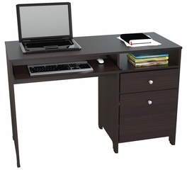 Inval Computer Desk with Shelf