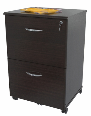 Inval Furniture 2 Drawer Mobile File with Drawer Locks