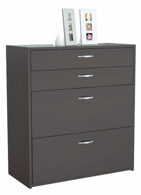 Inval Furniture 4 Drawer Lateral File with Locks
