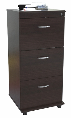 Inval Furniture Vertical 3 Drawer Pedestal File with Locks