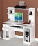 Inval Laura White Computer Workcenter / Credenza and Hutch