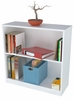 Inval Laura White Two Shelf Bookcase / Hutch