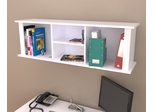 Inval Laura White Wall Mount Hutch Bookcase