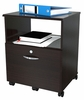 Inval Single Drawer Mobile File with Lock & Open Storage