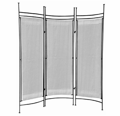 Iron and Canvas Privacy Screen Small - Pewter - Pangaea Home and Garden Furniture - FM-3020