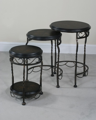 Iron Base Round Nest Tables - Emerson - Ultimate Accents - 32136NT