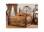 Iron Bed / Metal Bed - Bonaire Bed in Brushed Bronze - Hillsdale Furniture