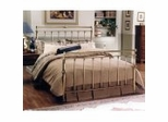 Iron Bed / Metal Bed - Charleston Bed in Antique Brass Finish - Hillsdale Furniture