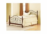 Iron Bed / Metal Bed - Eden Bed in Black / Cherry - Hillsdale Furniture