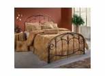 Iron Bed / Metal Bed - Jacqueline Bed in Old Brushed Pewter - Hillsdale Furniture