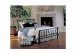 Iron Bed / Metal Bed - Janis Bed in Textured Black Finish - Hillsdale Furniture