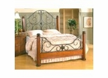 Iron Bed / Metal Bed - Leland Bed in Brown Cherry Finish - Hillsdale Furniture