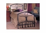 Iron Bed / Metal Bed - Morgan Bed in Textured Black - Hillsdale Furniture
