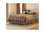 Iron Bed / Metal Bed - Neopolitan Bed in Nickel - Hillsdale Furniture
