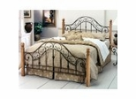 Iron Bed / Metal Bed - San Marco Bed in Brown Copper Finish - Hillsdale Furniture