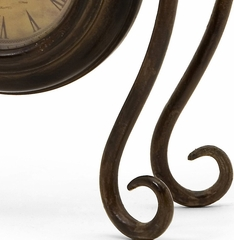 Iron Hanging Clock with Stand - IMAX - 2711